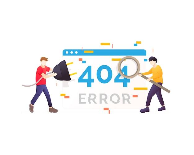 404-foutpagina niet gevonden Premium Vector