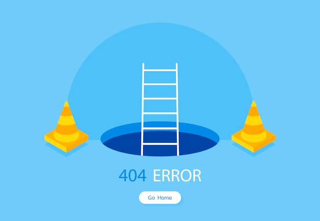 404-foutpaginasjabloon voor website Premium Vector