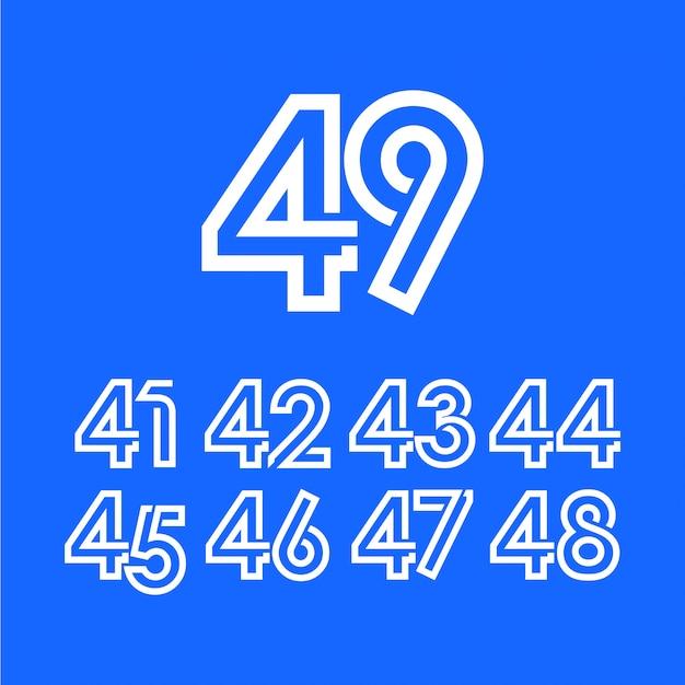 49 jaar verjaardag viering sjabloon Premium Vector