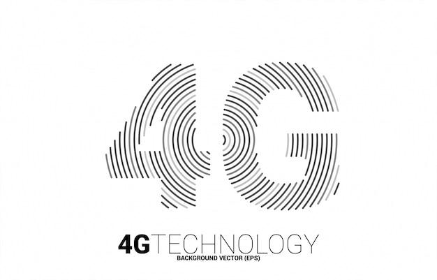 4g signaal rimpel lijn mobiel netwerk. concept voor mobiele telefoon data sim-kaart technologie. Premium Vector