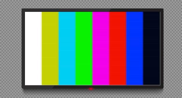 4k tv scherm vector. lcd of led tv-scherm. geen signaal Premium Vector