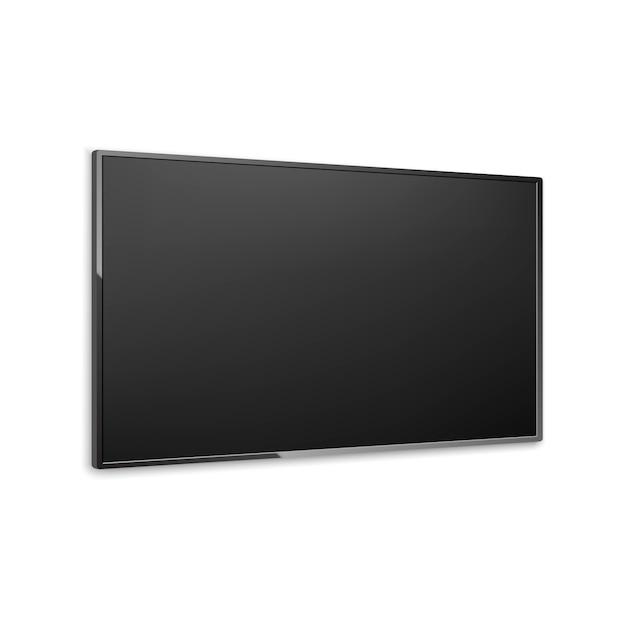 4k tv scherm vector. lcd of led tv-scherm Premium Vector