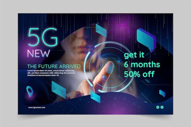 5g banner technologie concept Gratis Vector