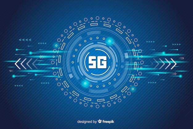 5g concept futuristische achtergrond Gratis Vector