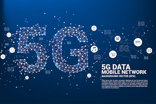 5g mobiel netwerken. Premium Vector