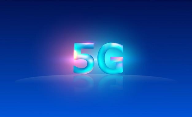 5g netwerk draadloze internet systemen achtergrond. communicatienetwerk. Premium Vector