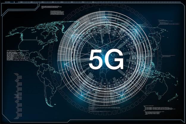 5g nieuwe draadloze internetverbinding via internet. wereldwijd netwerk high speed innovation Premium Vector