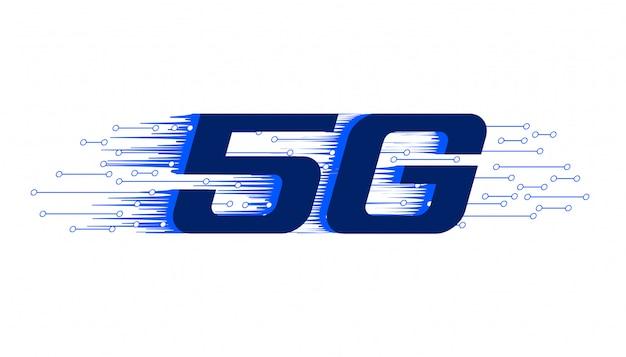 5g nieuwe firth generatie draadloze technologie achtergrond Gratis Vector