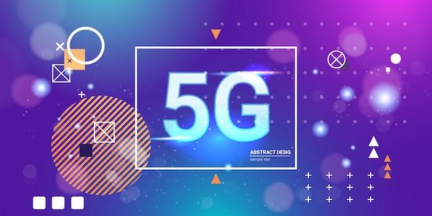 5g online communicatienetwerk draadloze systemen verbindingsconcept Premium Vector