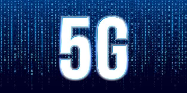 5g signaaloverdracht technologie, internet wifi. Premium Vector