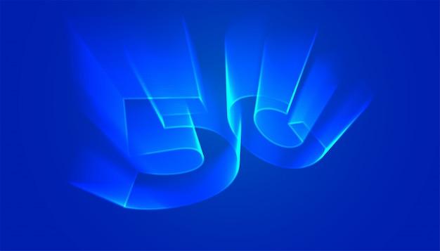5g technische achtergrond met holografische lichte gloedstijl Gratis Vector