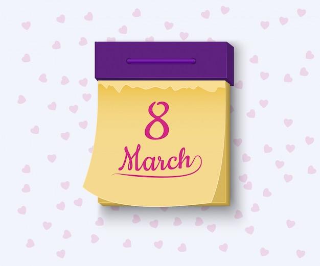 8 maart internationale vrouwendag illustratie Premium Vector