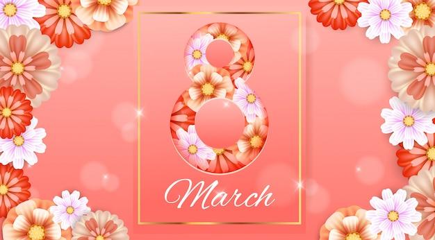 8 maart. vrouwendag Premium Vector