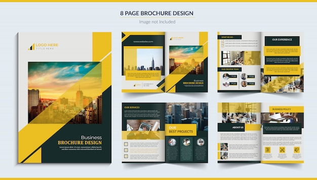 8 pagina brochureontwerp Premium Vector