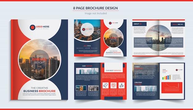 8 pagina's bedrijfsbrochure Premium Vector