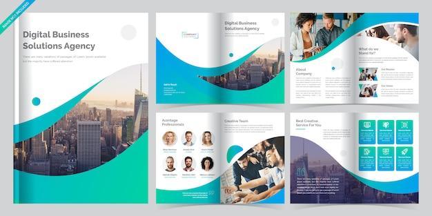 8 pagina zakelijke brochure sjabloon Premium Vector