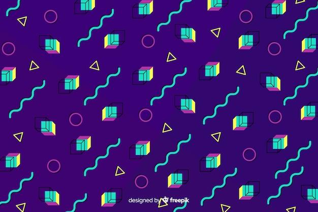 80's geometrische achtergrond Gratis Vector