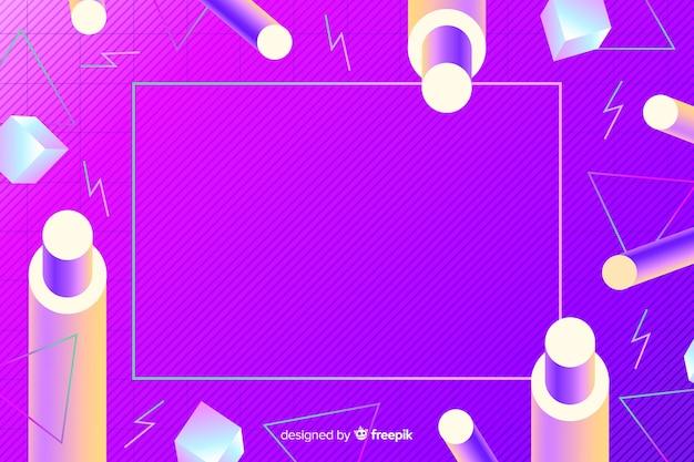80 stijlachtergrond met geometrische vormen Gratis Vector