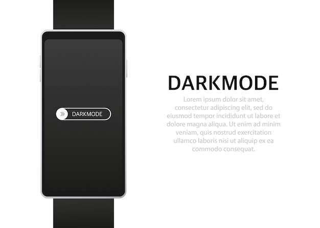 Aan uit schakelaar donkere modus switcher voor telefoonschermen lichte en donkere knoppen Premium Vector
