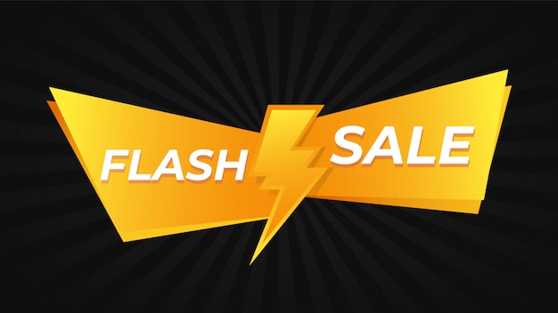 Aanbieding flash-aanbieding Premium Vector