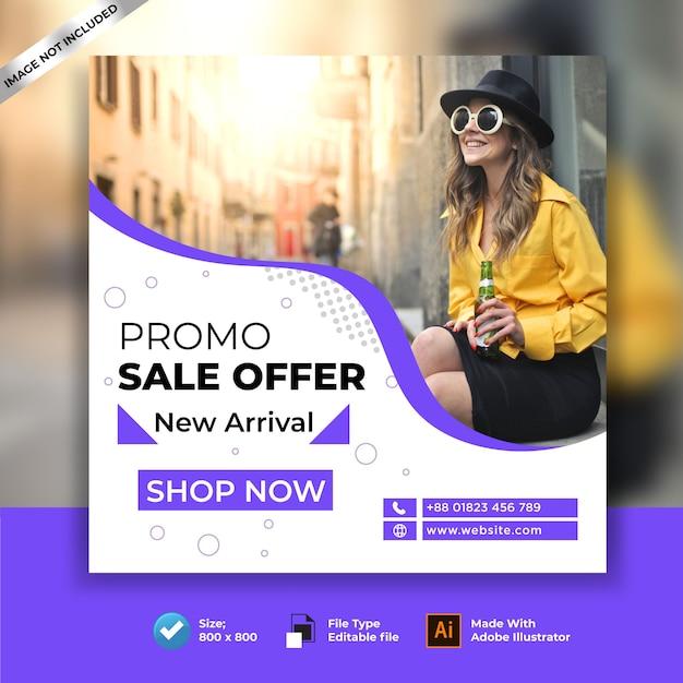 Aanbieding instagram-sjabloon voor verkoopbanner Premium Vector
