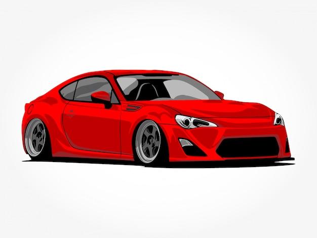Aangepaste auto isometrische illustraties Premium Vector