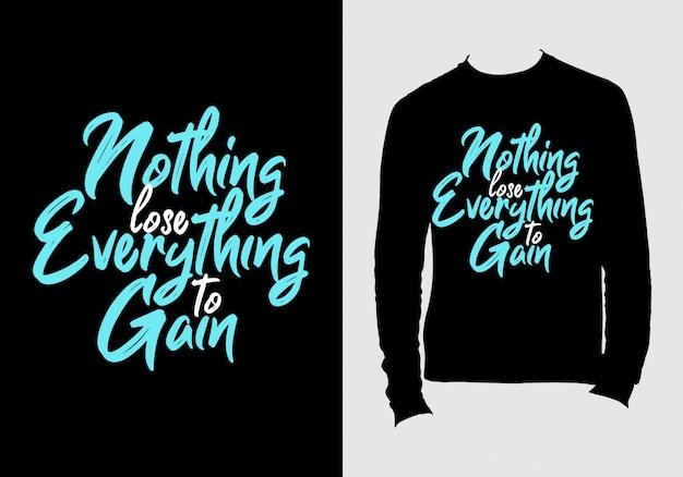 Aanhalingstekens belettering. hand getekend typografie t-shirt design Premium Vector