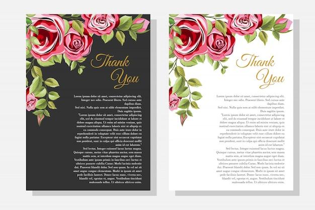 Aantal decoratieve frame met bloemen en bladeren ornament Premium Vector