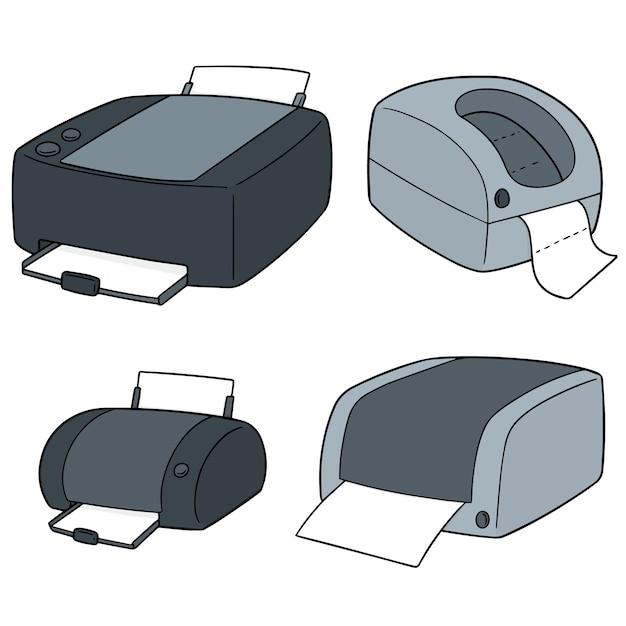 Aantal printers Premium Vector