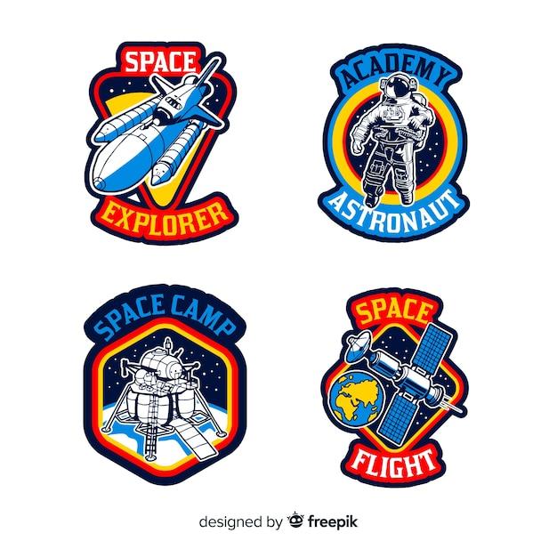 Aantal verschillende stickers met ruimte Gratis Vector