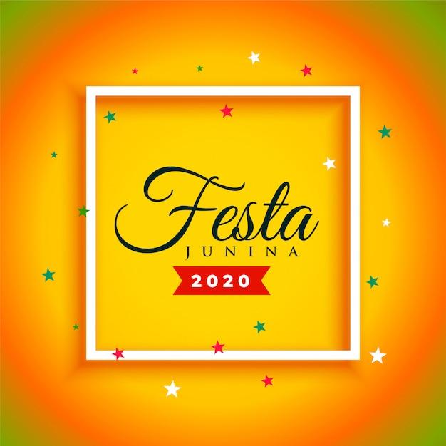 Aantrekkelijke festa junina viering poster achtergrond Gratis Vector