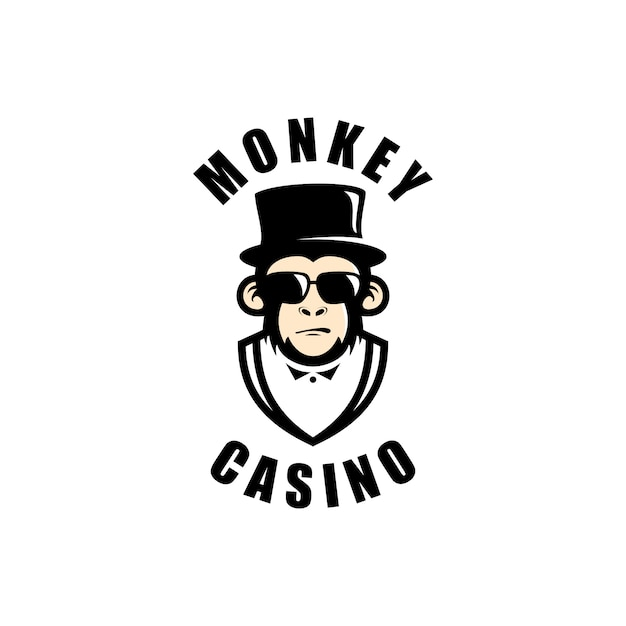 Aap casino logo afbeeldingen Premium Vector
