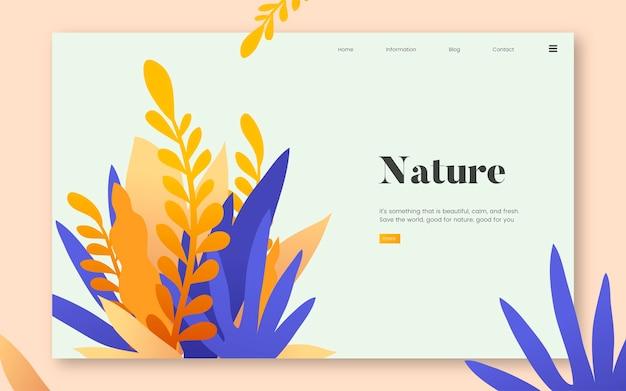Aard en planten informatieve website grafisch Gratis Vector