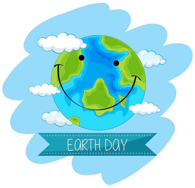 Aarde dag concept poster Gratis Vector