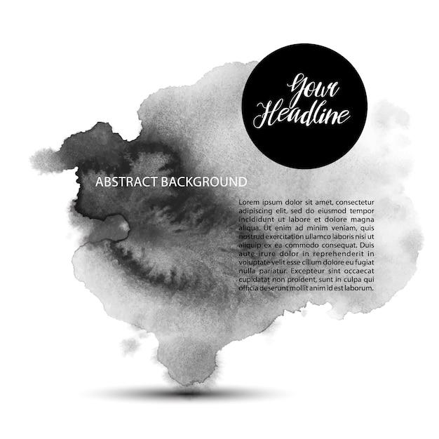 Abnstract creativ banner wuth handgetekende inkt Gratis Vector