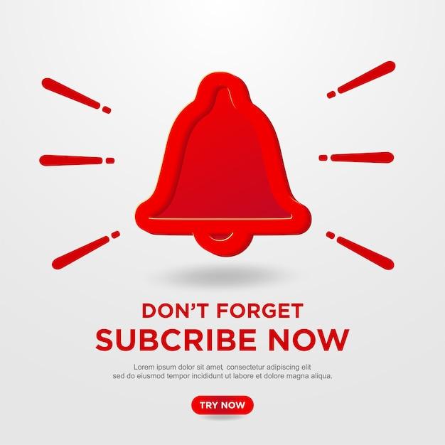 Abonneerknop op youtube-achtergrond Premium Vector