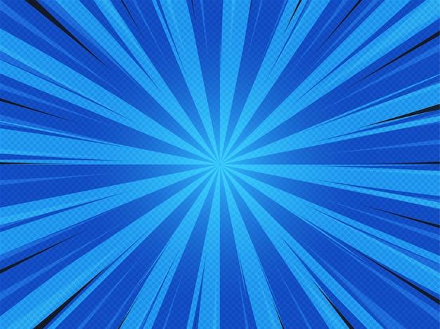 Abstack achtergrondbeeldverhaalstijl. bigbamm of sunlight, sunburst Premium Vector