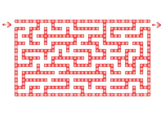 Abstact labyrint. Premium Vector