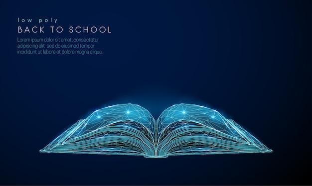 Abstact open boek Premium Vector