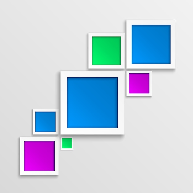 Abstract 3d geometrisch fotoframe. Premium Vector