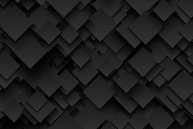 Abstract 3d vector-technologie donkergrijze achtergrond Premium Vector