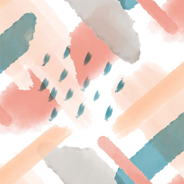 Abstract aquarel patroon Gratis Vector