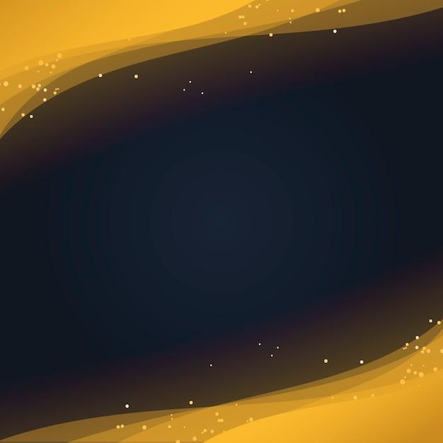 Abstract behang met decoratieve gouden glitter deeltjes Gratis Vector