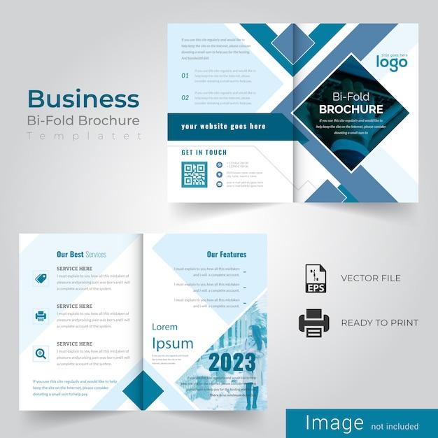 Abstract bifold brochureontwerp Premium Vector