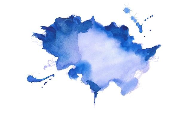 Abstract blauw aquarel vlek textuur achtergrondontwerp Gratis Vector