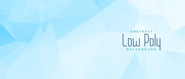 Abstract blauw laag poly geometrisch bannerontwerp Gratis Vector