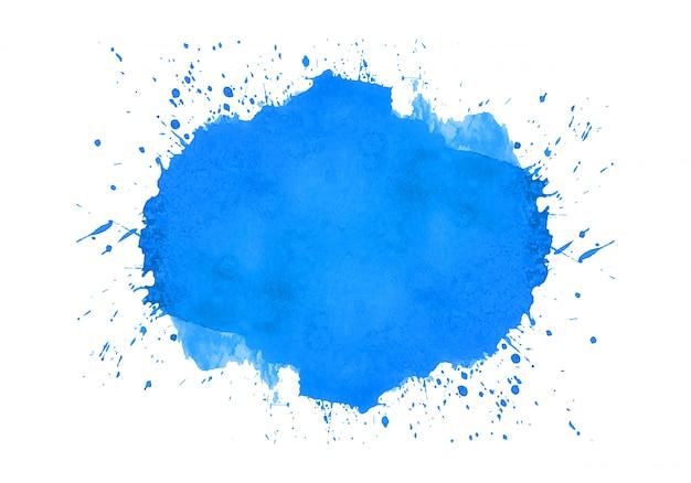 Abstract blauw splash aquarel ontwerp Gratis Vector