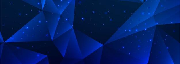 Abstract blauw veelhoekbannerontwerp Gratis Vector