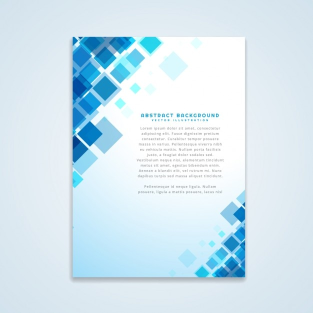 Abstract brochure design Gratis Vector