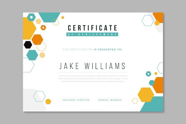 Abstract certificaat sjabloonontwerp Premium Vector